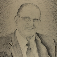 graphite sketch for current commissioned portrait