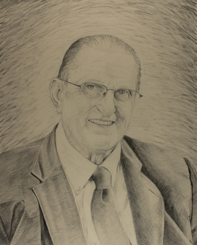 Ron Burbick Portrait Sketch