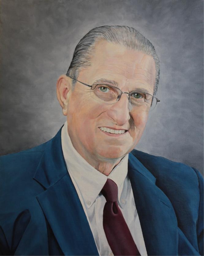"""Ron Burbick, Chairman of the Board,"" oil, 24"" X 30"""
