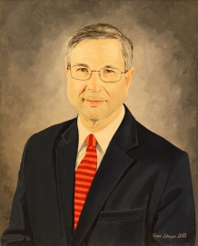 """Michael Clyburn, President of the College,"" oil, 24"" X 30"""