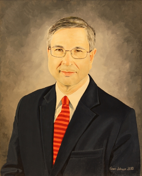 """""""Michael Clyburn, President of the College,"""" oil, 24"""" X 30"""""""
