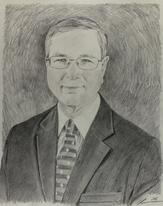 graphite sketch for commissioned portrait