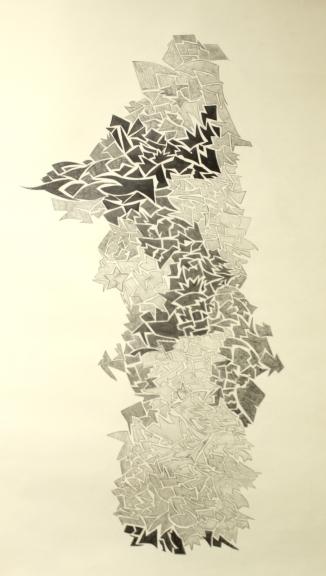 """graphite, 32"""" X 46"""""""