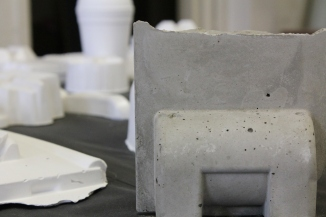 Part of a new sculptural series. Plaster now, with plans to move to slip-casting.