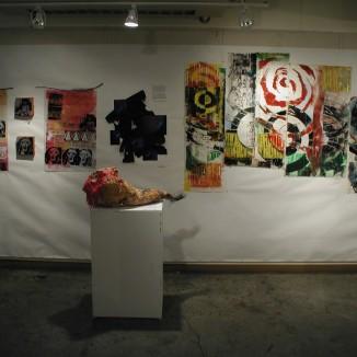 prints on back wall